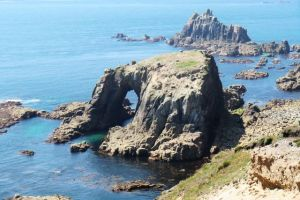 Havet och utsikten i Cornwall, sommaren 2010.